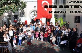 İZMİR Doğumgünü Partisi  ses sistemi/hoparlör kiralama gsm:05546948194
